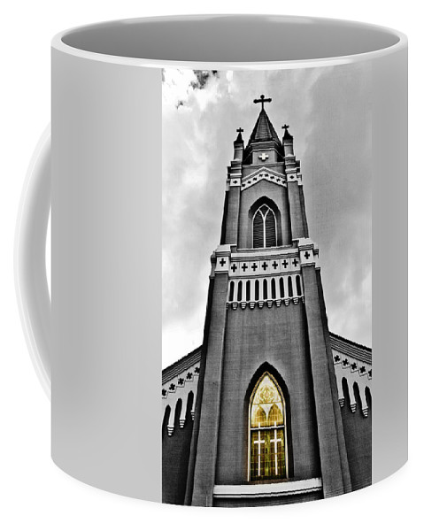 Church Coffee Mug featuring the photograph Looking Up by Scott Pellegrin