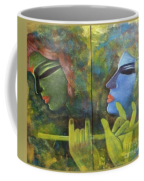 Love Series Coffee Mug featuring the painting Love by Arindam Chakraborty