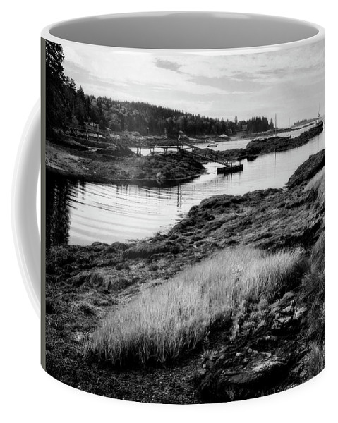 Lighthouse Coffee Mug featuring the photograph Low Tide by Claudia Kuhn
