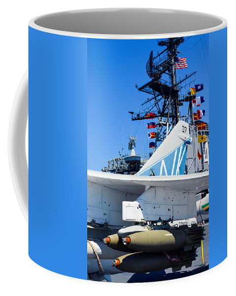 2014 Coffee Mug featuring the photograph Ltv A-7 Corsair II by Tommy Anderson