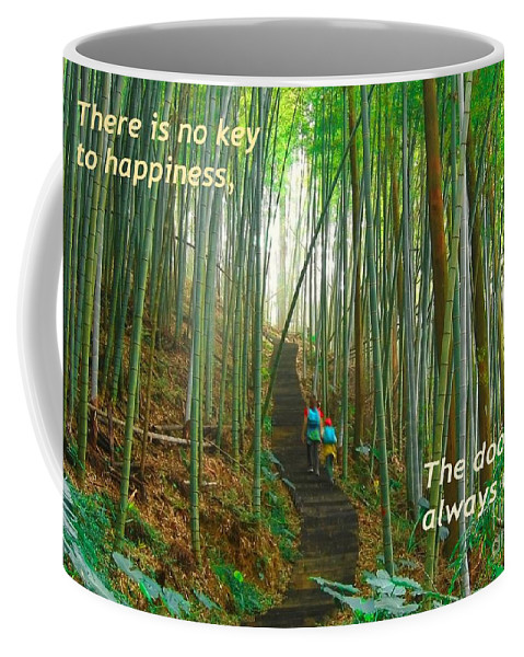 Bamboo Coffee Mug featuring the photograph Lush Bamboo Forest by Yali Shi