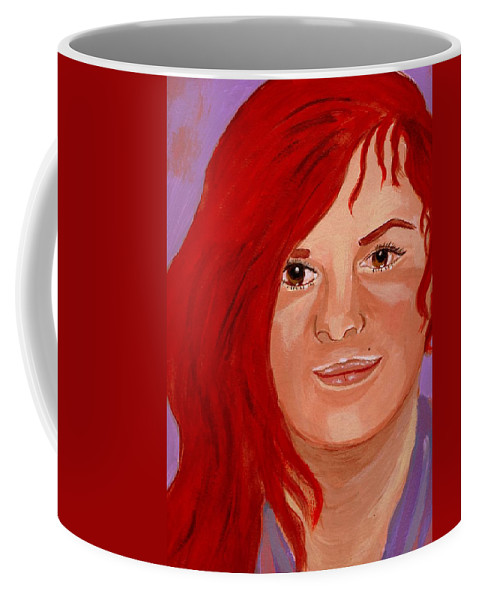 Faces Coffee Mug featuring the painting Lydia by Rusty Gladdish