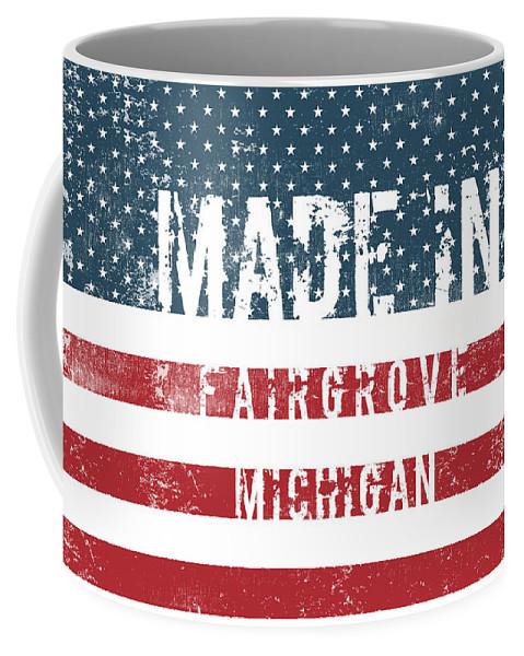 Fairgrove Coffee Mug featuring the digital art Made In Fairgrove, Michigan by Tinto Designs