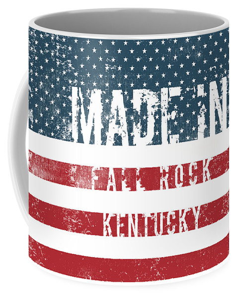 Fall Rock Coffee Mug featuring the digital art Made In Fall Rock, Kentucky by Tinto Designs
