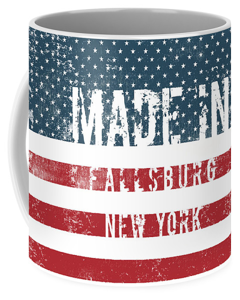 Fallsburg Coffee Mug featuring the digital art Made In Fallsburg, New York by Tinto Designs