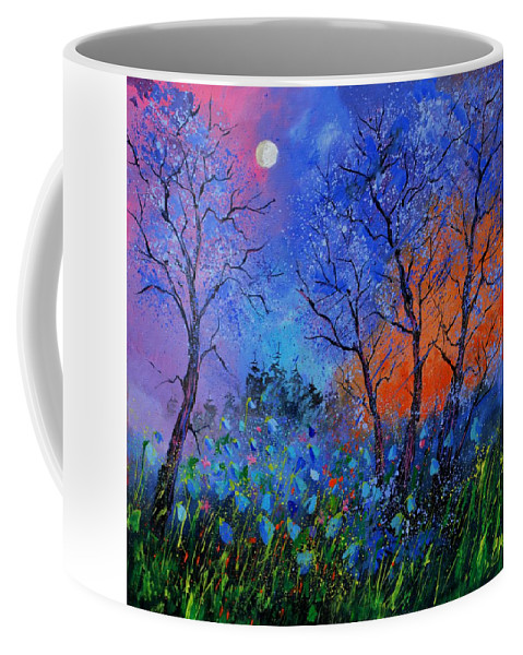 Landscape Coffee Mug featuring the painting Magic wood by Pol Ledent