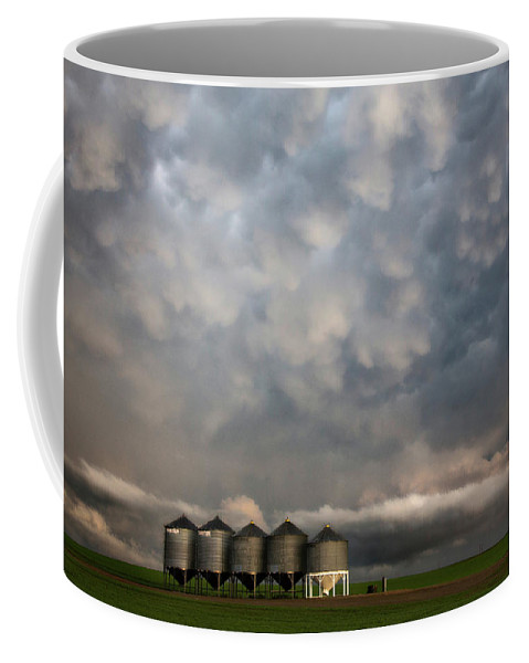 Storm Coffee Mug featuring the photograph Mammatus Storm Clouds by Mark Duffy