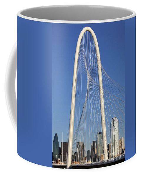 New Coffee Mug featuring the photograph Margaret Hunt Hill Bridge In Dallas - Texas by Anthony Totah