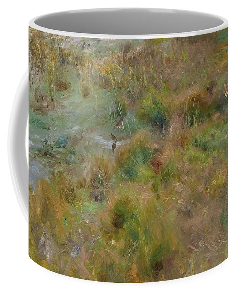 Bruno Liljefors 1860-1939 Marsh A Coffee Mug featuring the digital art Marsh by Mark Carlson