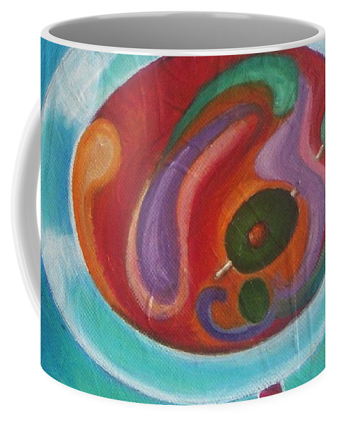 Martini Coffee Mug featuring the painting Martini On The Beach by Vesna Antic