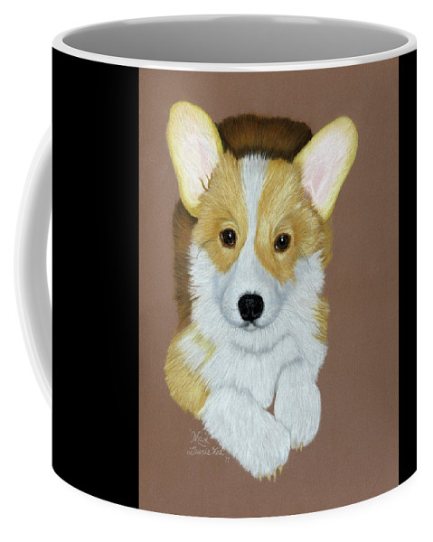 Pastel Coffee Mug featuring the drawing Max 1 by Laurie With