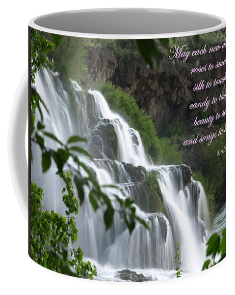 Waterfall Coffee Mug featuring the photograph May Each New Day Bring... by DeeLon Merritt