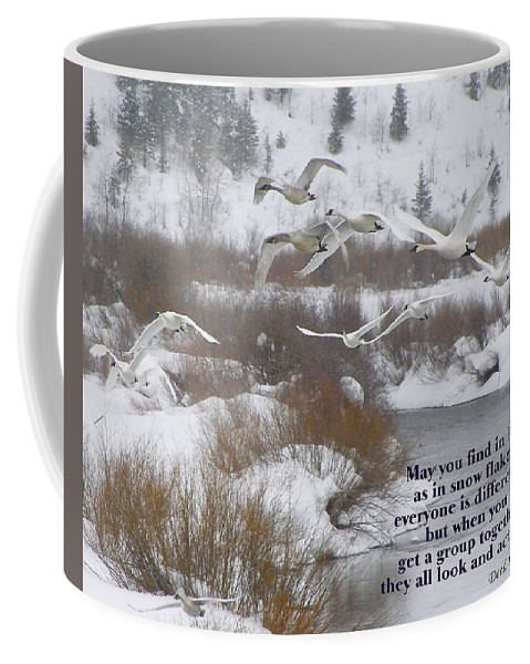Swans Coffee Mug featuring the photograph May You Find In Life... by DeeLon Merritt