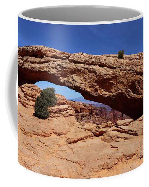 Canyon Coffee Mug featuring the photograph Mesa Arch II by Christiane Schulze Art And Photography