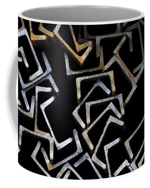 Channel Coffee Mug featuring the photograph Metal Profile Channel In Packs At The Warehouse Of Metal Products by Evgenii Dergachev