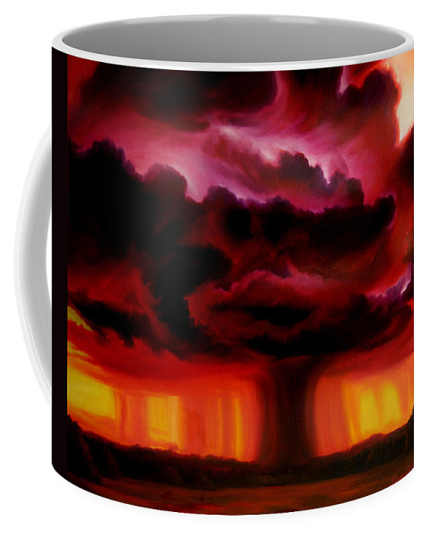 Skyscape Coffee Mug featuring the painting Microburst by James Christopher Hill