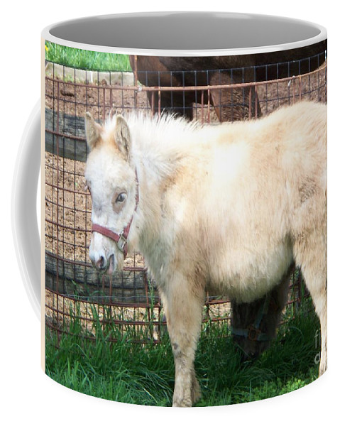 Miniature Horse Coffee Mug featuring the painting Miniature Horse by Eric Schiabor