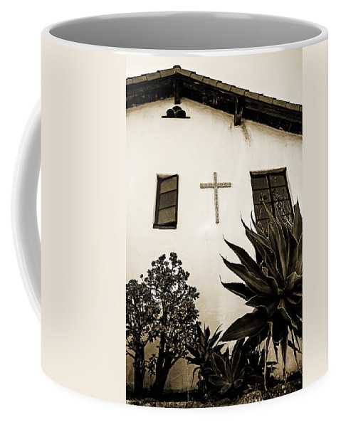 Mission Coffee Mug featuring the photograph Mission Cross by Scott Pellegrin