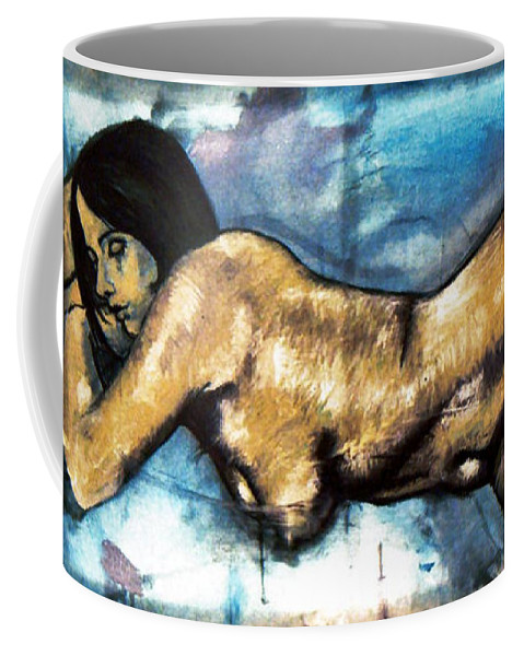Nude Coffee Mug featuring the painting Missy by Thomas Valentine