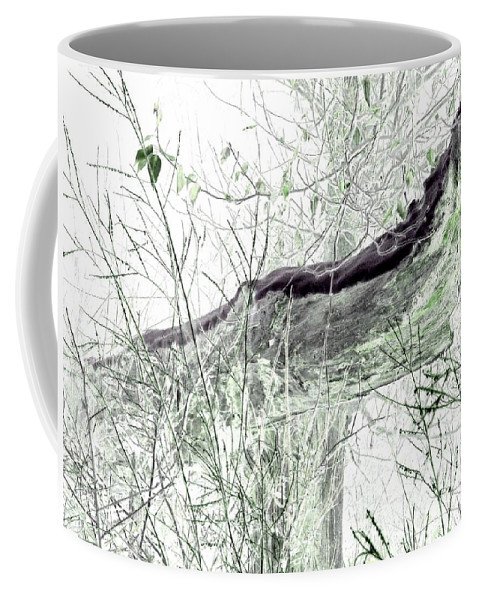 Forest Coffee Mug featuring the digital art Misty Morn by Will Borden