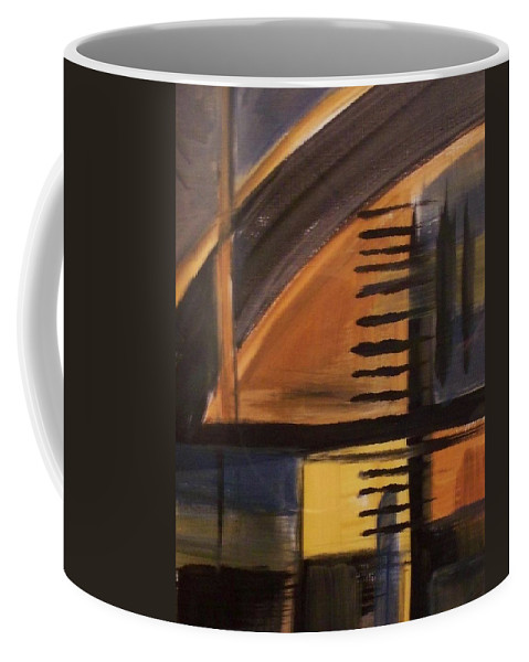 Abstract Coffee Mug featuring the painting Modern Architecture 1 by Anita Burgermeister