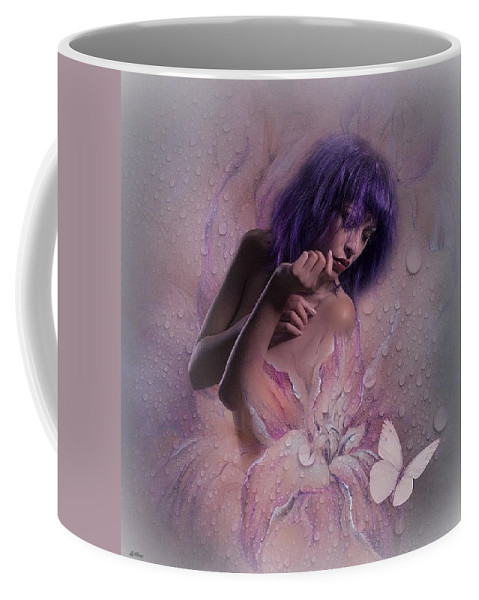 Morning Dew Coffee Mug featuring the mixed media Morning Dew by G Berry