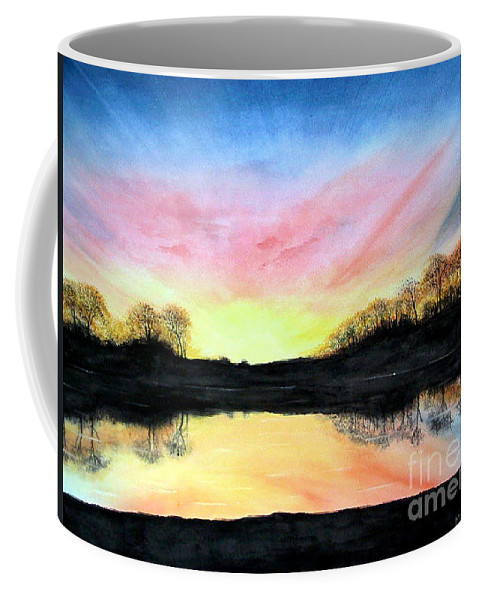 Peaceful Coffee Mug featuring the painting Morning Glory by Mary Tuomi