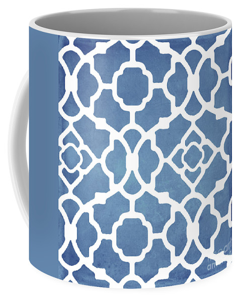 Blue Pattern Coffee Mug featuring the painting Moroccan Blues by Mindy Sommers