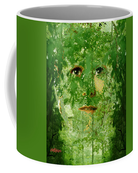 Lady Coffee Mug featuring the digital art Mother Nature by Seth Weaver