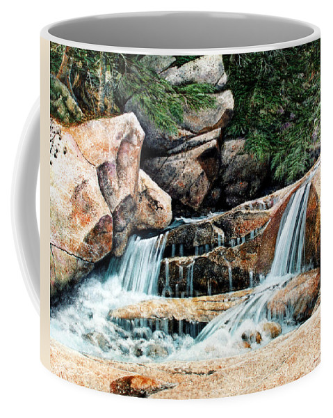 Landscape Coffee Mug featuring the painting Mountain Stream by Frank Wilson
