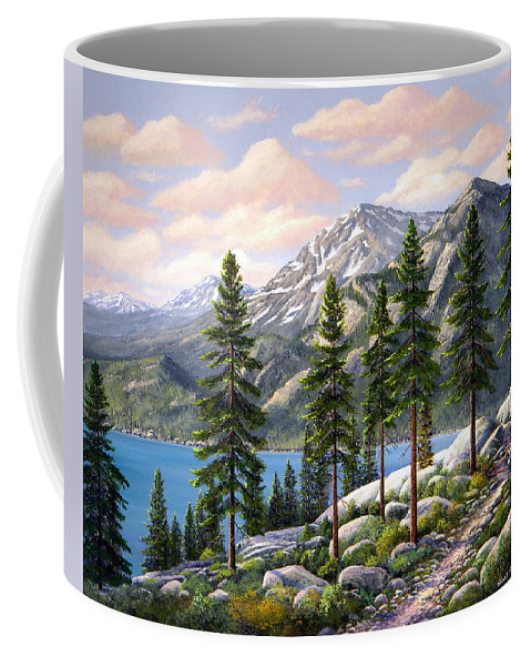 Landscape Coffee Mug featuring the painting Mountain Trail by Frank Wilson