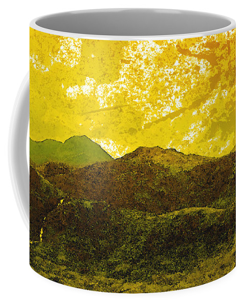 Painting Coffee Mug featuring the digital art Mountains by Svetlana Sewell