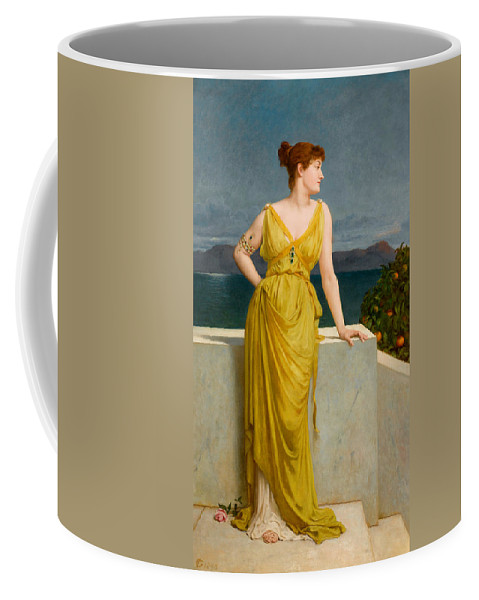 Frederick Goodall Coffee Mug featuring the painting Mrs Kettlewell by Frederick Goodall