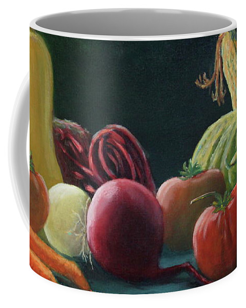 Vegetables Coffee Mug featuring the painting My Harvest Vegetables by Lorraine Vatcher