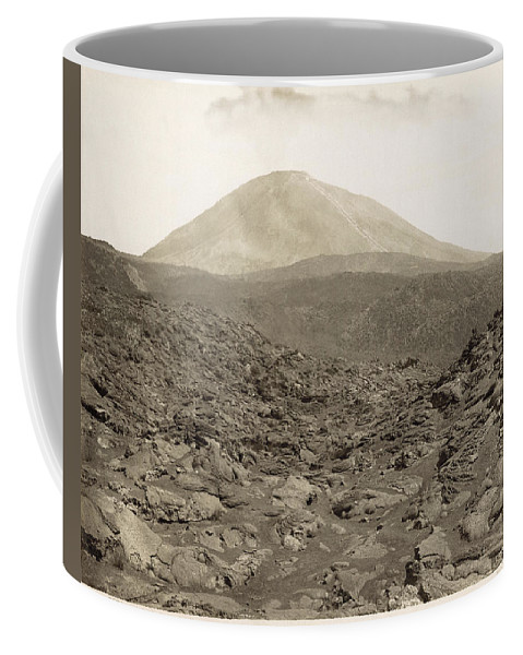 1890 Coffee Mug featuring the photograph Naples: Mt. Vesuvius by Granger