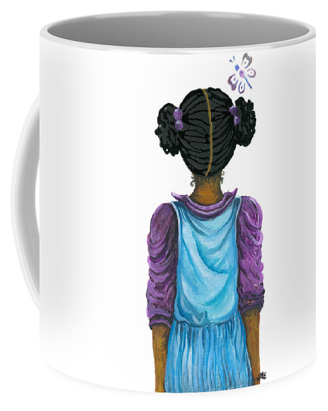 Coffee Mug featuring the painting Kimmie by Sonja Griffin Evans