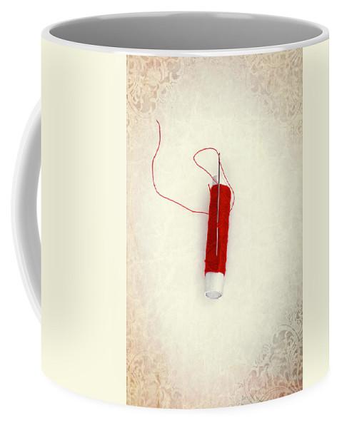 Needle Coffee Mug featuring the photograph Needle And Thread by Joana Kruse
