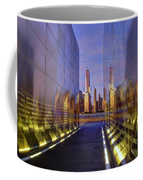 Empty Sky Coffee Mug featuring the photograph New Jersey Empty Sky 9-11 Memorial by Allen Beatty