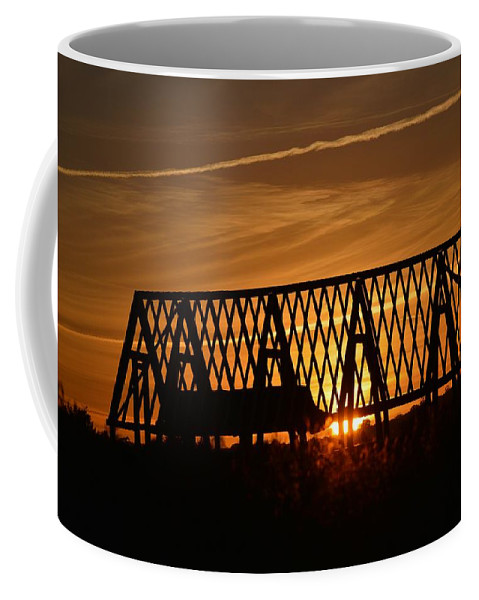 Sky Coffee Mug featuring the photograph New Roof At Sunset by Graham Harding