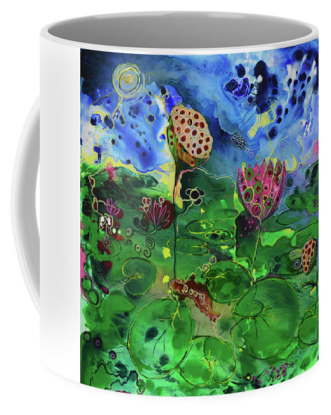 Lily Coffee Mug featuring the painting Lily Pops by Susan Curtin