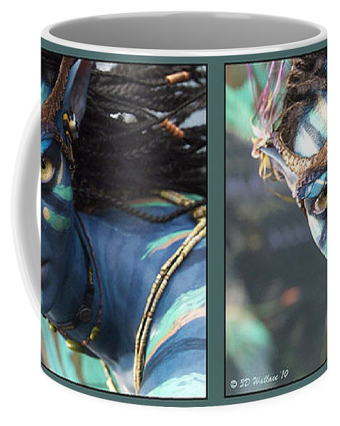 3d Coffee Mug featuring the photograph Neytiri - Gently cross your eyes and focus on the middle image by Brian Wallace