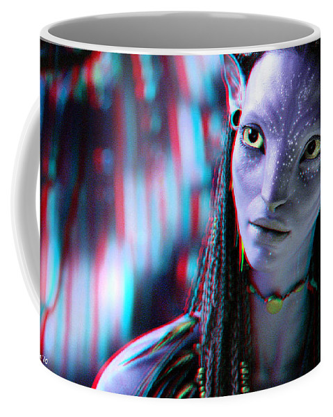 3d Coffee Mug featuring the photograph Neytiri - Use Red And Cyan 3d Glasses by Brian Wallace