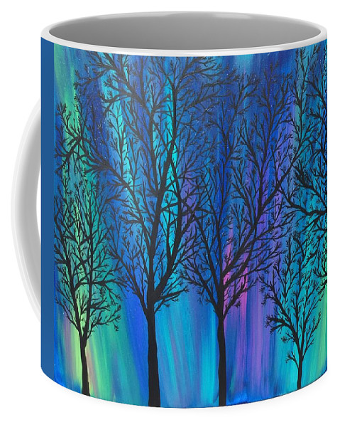 Acrylic Painting. Landscape Coffee Mug featuring the painting Night Beauty by Kim Mlyniec
