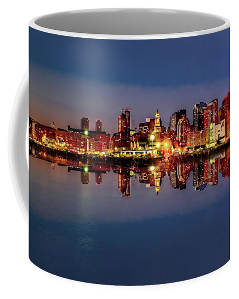 America Coffee Mug featuring the photograph Night Lights by Maria Coulson
