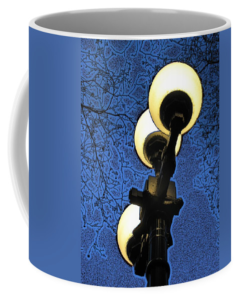 Night Coffee Mug featuring the digital art Night Lights by Tim Allen
