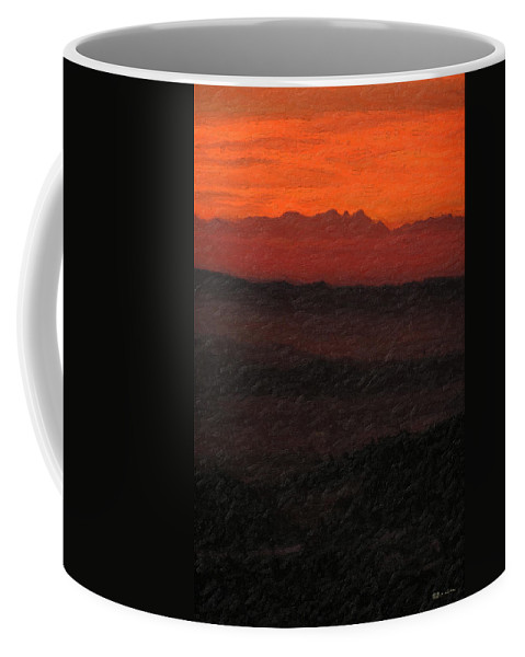 �not Quite Rothko� Collection By Serge Averbukh Coffee Mug featuring the photograph Not quite Rothko - Blood Red Skies by Serge Averbukh