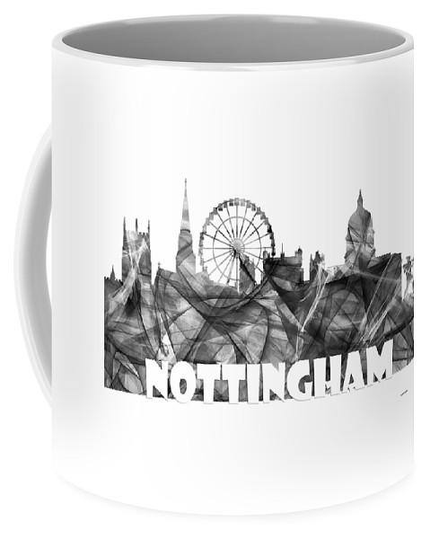 Nottingham Coffee Mug featuring the digital art Nottingham England Skyline by Marlene Watson