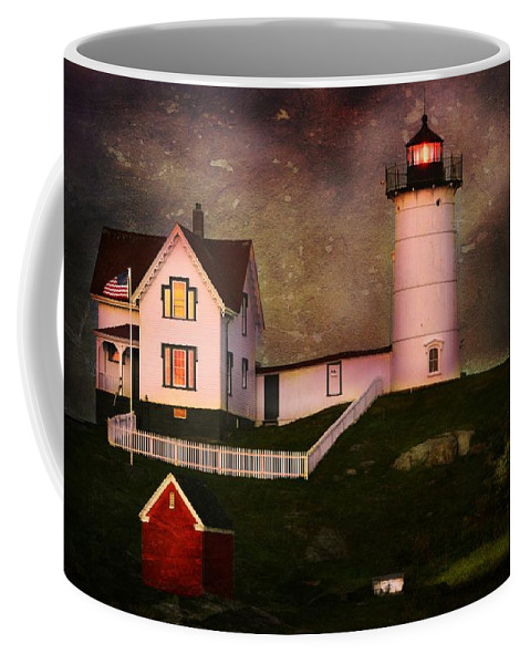 Lighthouse Coffee Mug featuring the photograph Nubble Light by Kim Blaylock
