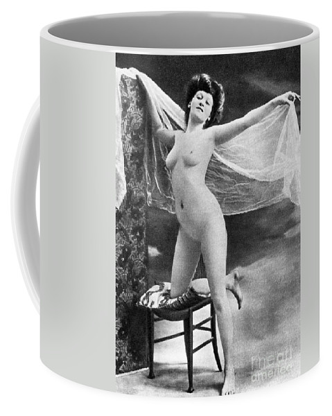 Coffee Mug featuring the painting Nude Posing, C1900 by Granger