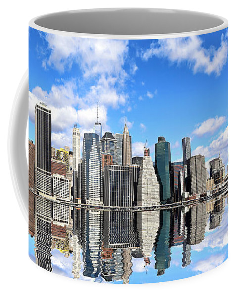 New Coffee Mug featuring the photograph Ny East River by Paul Fell
